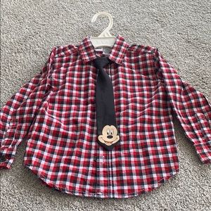 Disney 18-24month button up dress shirt with tie